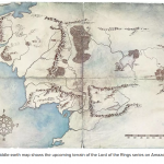 Amazon map of middle earth in TV series