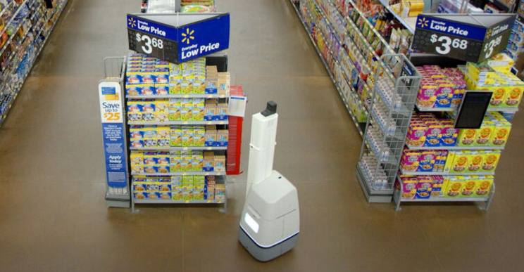 wal-mart getting rid of inventory robots