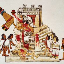 Aztec sacrifice to their sun god