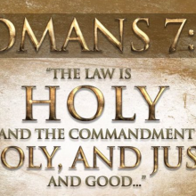 the law is holy just and good